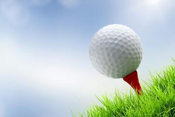 a golf ball on tee