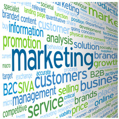 """MARKETING"" Tag Cloud (advertising publicity prices products)"