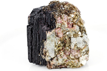 Tourmaline and muscovite mineral