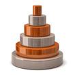Layer orange pyramid