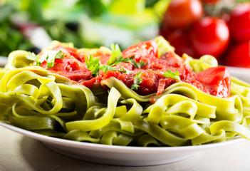 spinach tagliatelle
