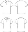 Vector illustration of men's and women's polo t-shirts - 51784290