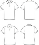 Fototapety Vector illustration of men's and women's polo t-shirts