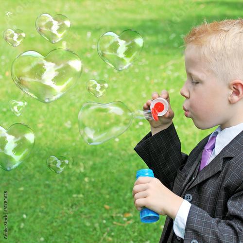 Seifenblasenherzen zum Muttertag