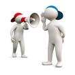 3D Man speak loud