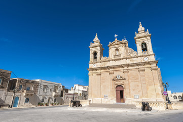 Parish church of Zebbug in Gozo, Malta
