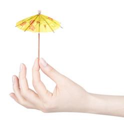 Cocktail Umbrella isolated