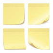 Yellow paper note sticker