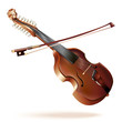 Classical viola d'amore, isolated on white background