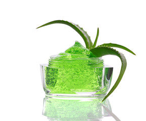 green gel and aloe