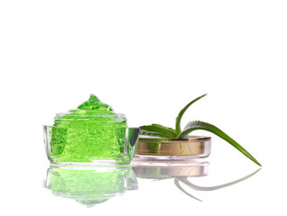 natural cosmetics with aloe vera