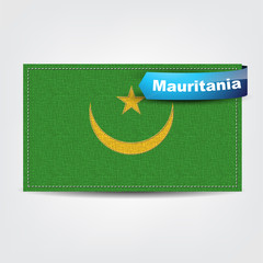 Fabric texture of the flag of Mauritania