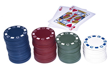 texas holdem cards and chips