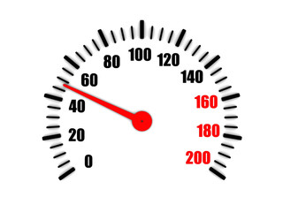 speedometer shows average speed