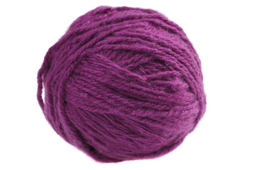 Ball of cyclamen yarn