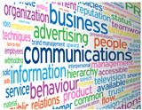 """COMMUNICATIONS"" Tag Cloud (business customers contact services)"