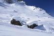 snow on stones, Arabba
