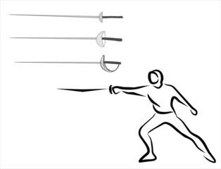 espadas de esgrima