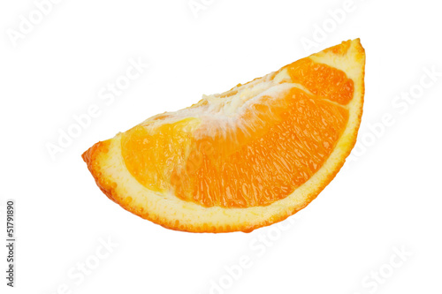 a quarter of an orange