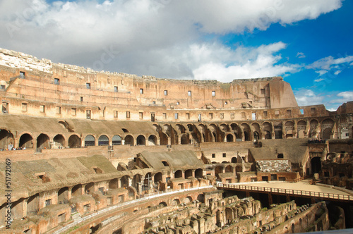Amphitheatre of The Colosseum or Coliseum