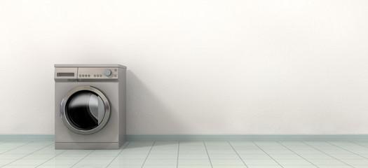 Washing MAching In An Empty Room