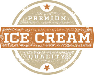 Vintage Premium Ice Cream Design