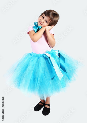 Little Girl in Tutu Skirt
