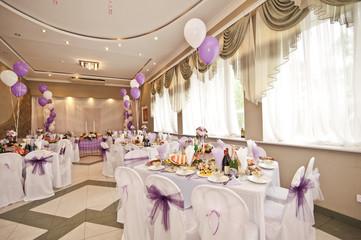 Свадебный зал с шарами