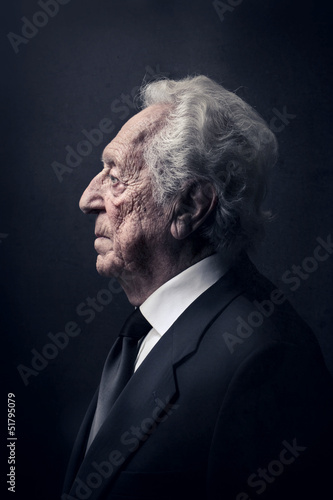 elderly businessman