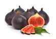 Group of fresh ripe figs