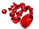 red ruby gem stones crystals poster