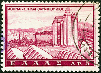 Temple of Olympian Zeus, Athens (Greece 1961)