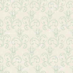 Seamless vintage wallpaper, floral pattern, retro wallpaper.