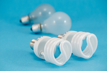 two pair of light bulbs  new fluorescent heat bulb