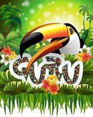 Toucan Guru Art Design-Tucano Guru nella Giungla