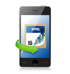 phone Tax Deadline Calendar illustration design
