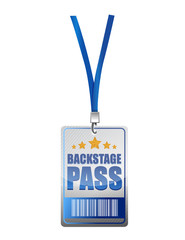 Backstage pass vip illustration design