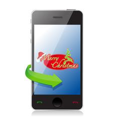Mobile Phone - Christmas illustration design