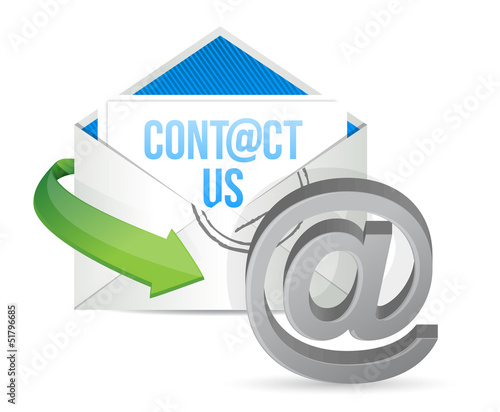 contact us E mail icon illustration design