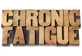 chronic fatigue in wood type poster