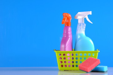 Washing concept on saturated background