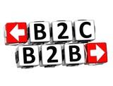 3D B2B B2C Button Click Here Block Text poster