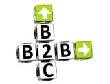 3D B2B B2C Crossword poster