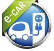 Button e-car Tankstelle blau