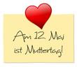 Zettel Herz Muttertag