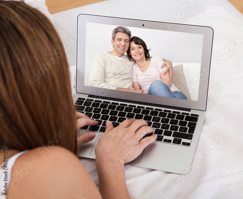 Young Woman Video Chatting