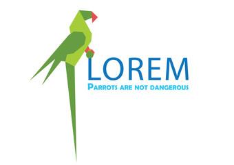 parrot logo, bird logo