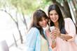 Women using a smart phone