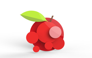 Stylistic apple illustration