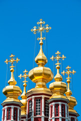Domes of the Orthodox Church. Moscow, Russia